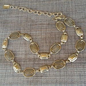 Brass clasp belt or large necklace
